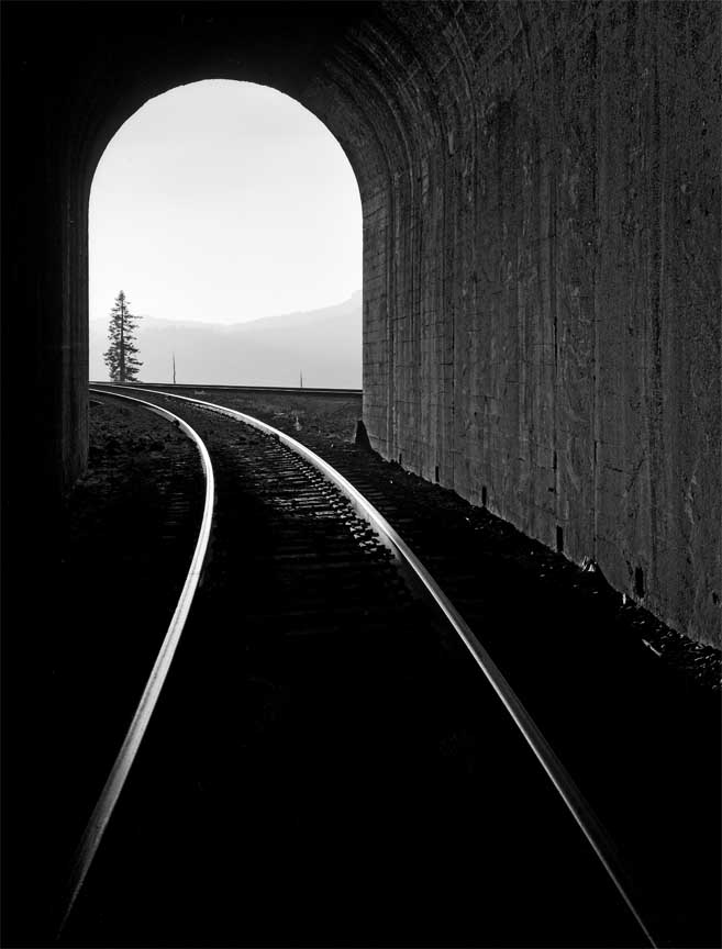 Sierra Tunnel, Donner Pass, 1973