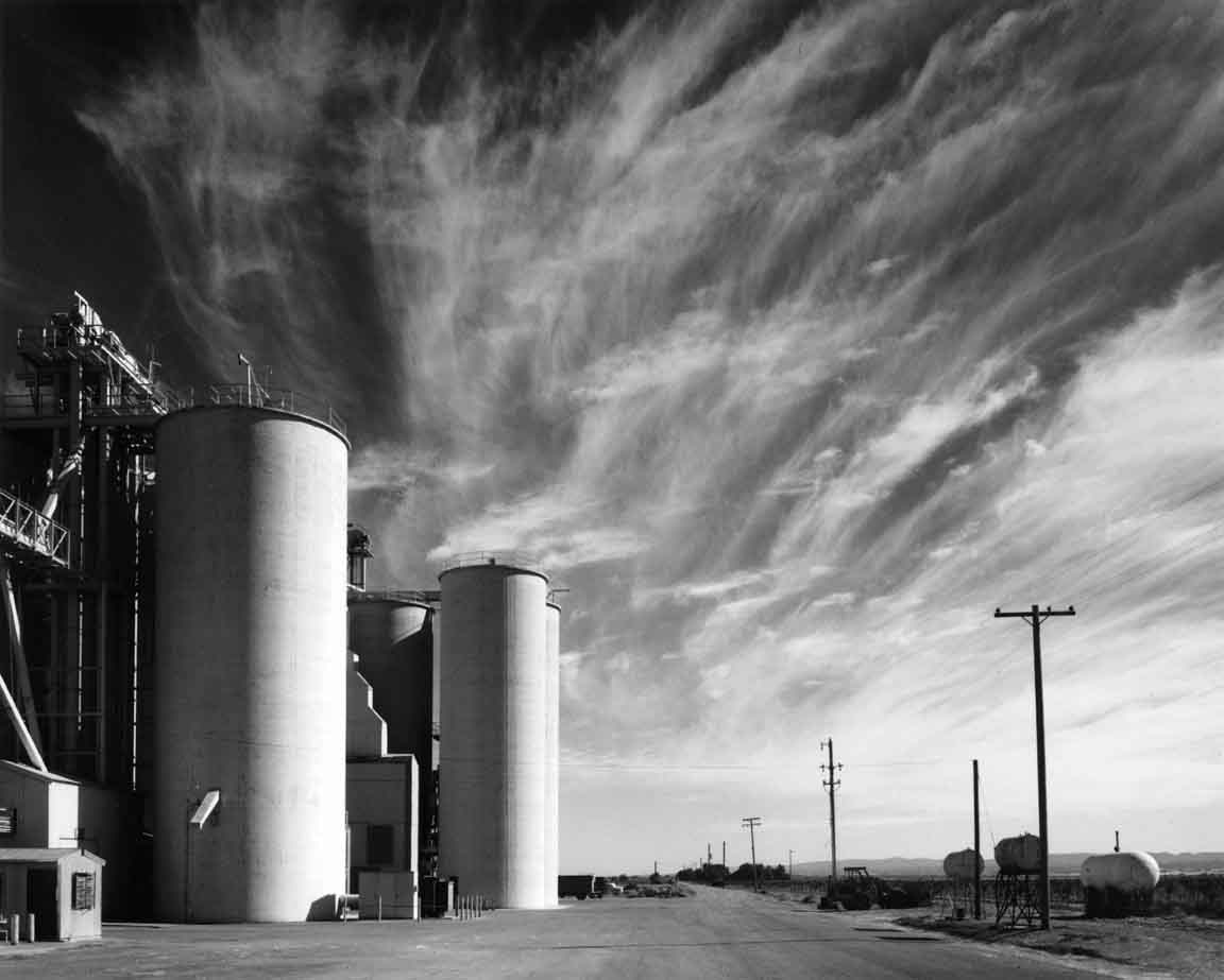 Grain Elevators with Clouds